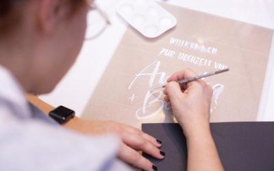 Acryl Lettering Schritt für Schritt
