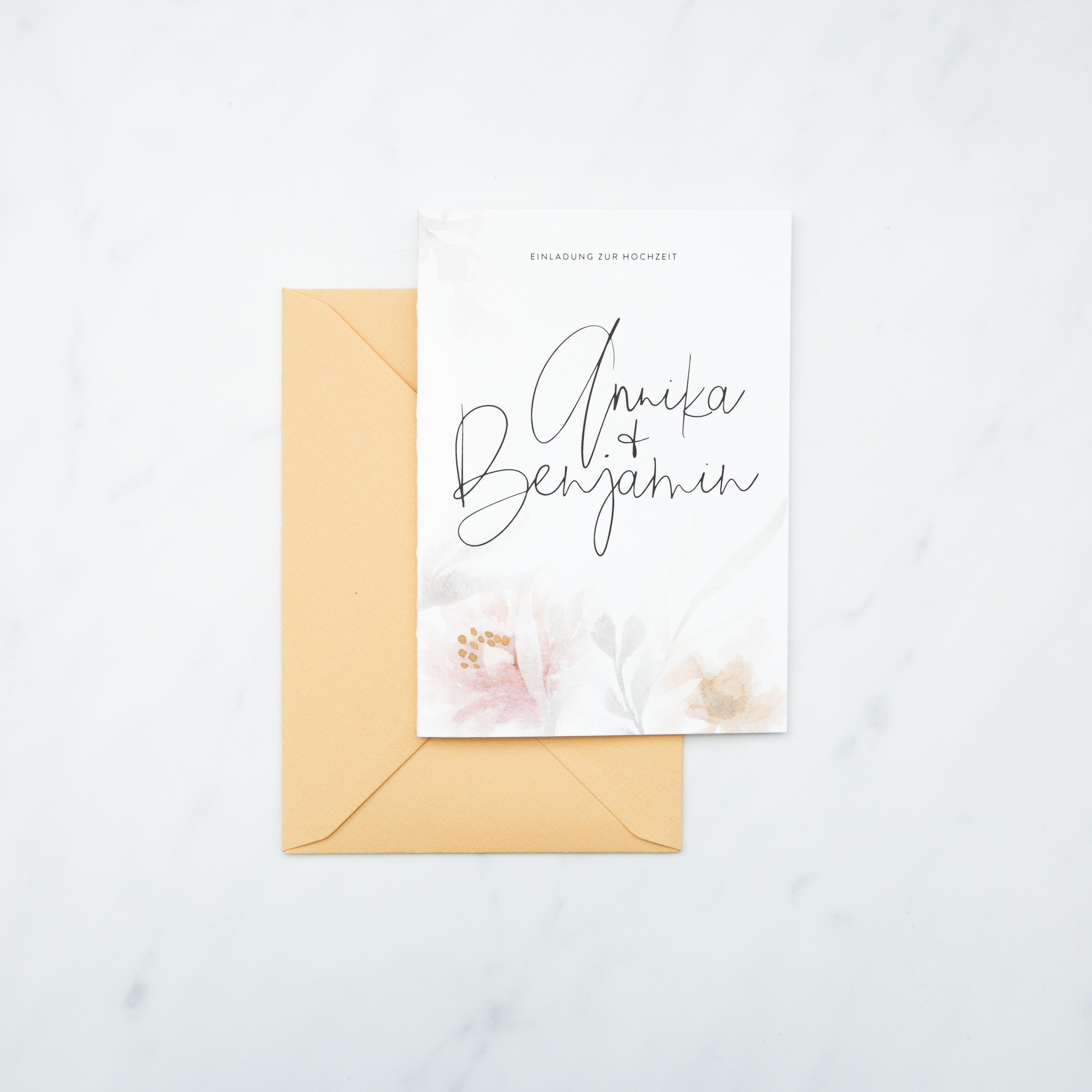Hochzeitseinladung – Blush Flower (30 Stk.)